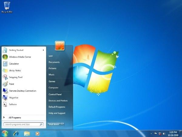 cara instal windows 7 telah berhasil