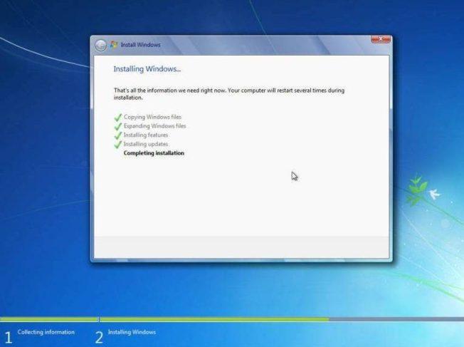 cara instal windows 7 menyempurnakan